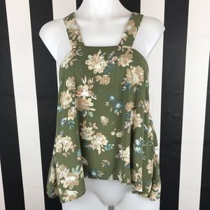 5 for $25 O'Neill Green Floral Blouse